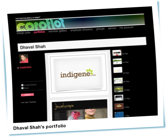Look at Dhaval Shah's portfolio