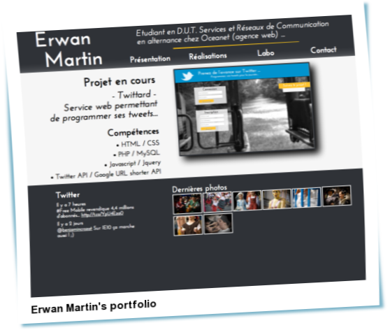 Look at Erwan Martin's portfolio
