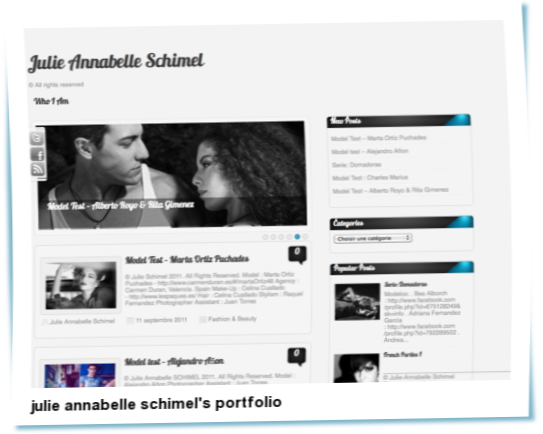 Look at julie annabelle schimel's portfolio