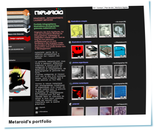 Look at Metaroid's portfolio