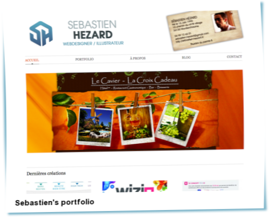 Look at Sebastien's portfolio